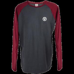 Winchester-Mens-Long-Sleeve-T-Shirt-Grey-and-Burgundy-Medium-114159616390