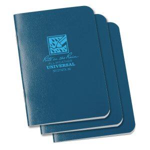 Rite-in-the-Rain-Mini-Stapled-325×4625-FieldFlex-Notebook-Universal-Blue-3PK-114511866031