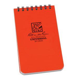 Rite-in-the-Rain-Top-Spiral-3-X-5-Polydura-Notebook-Universal-Orange-OR35-254775008721