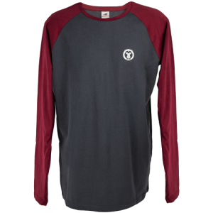 Winchester-Mens-Long-Sleeve-T-Shirt-Grey-and-Burgundy-Small-254551649411