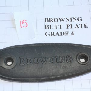 Browning-Butt-Plate-RifleShotgun-Not-Weapon-Part-Grade-4-Stock-Code-15-113213579092