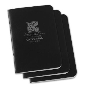 Rite-in-the-Rain-Mini-Stapled-325×4625-FieldFlex-Notebook-Universal-Black-3PK-114511866032