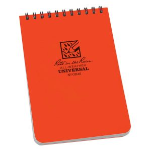 Rite-in-the-Rain-Top-Spiral-4-X-6-Polydura-Notebook-Universal-Orange-OR46-114511866042