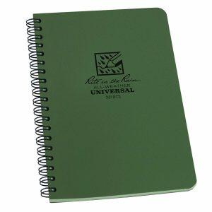 Rite-in-the-Rain-Side-Spiral-4625-x-7-Polydura-Notebook-Universal-Green-973-114511866063