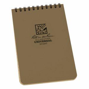 Rite-in-the-Rain-Top-Spiral-4-X-6-Polydura-Notebook-Universal-Tan-946T-254775008713
