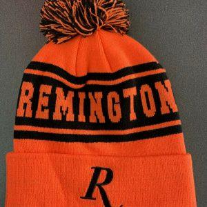 Remington-Beanie-Blaze-and-Black-with-Pom-Pom-Genuine-Remington-Product-RM19BLAZ-254638493084