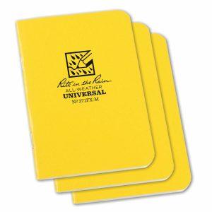 Rite-in-the-Rain-Mini-Stapled-325×4625-FieldFlex-Notebook-Universal-Yellow-3PK-114511866034