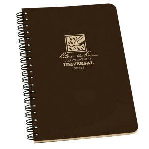 Rite-in-the-Rain-Side-Spiral-4625-x-7-Polydura-Notebook-Universal-Brown-473-254775008714