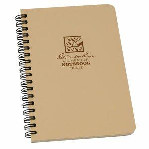 Rite-in-the-Rain-Side-Spiral-4625-x-7-Polydura-Notebook-Universal-Tan-973T-254775008704