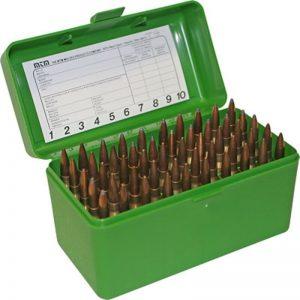 MTM-Ammo-Box-Large-Rifle-50-Round-Green-Fits-270-30-06-See-List-RL-50-10-112812569165