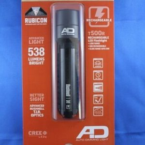 Bushnell-Rubicon-T500R-Rechargeable-LED-Flashlight-with-Battery-Aluminum-Black-111879185086