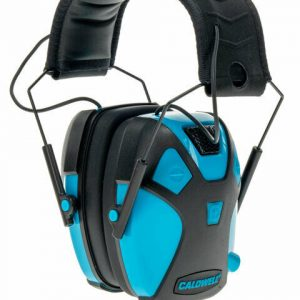 CALDWELL-EMAX-PRO-ELECTRONIC-EAR-MUFFS-NEON-BLUE-YOUTH-SIZE-23DB-NRR-114579290716
