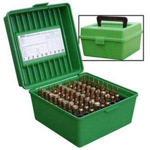 MTM-Ammo-Box-Deluxe-100-Round-Large-Rifle-with-Handle-Green-See-Calibre-R-100-10-254412414566