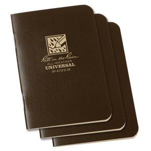 Rite-in-the-Rain-Mini-Stapled-325×4625-FieldFlex-Notebook-Universal-Brown-3PK-114511866037