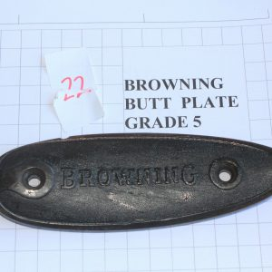 Browning-Butt-Plate-RifleShotgun-Not-Weapon-Part-Grade-5-Stock-Code-22-113213579089